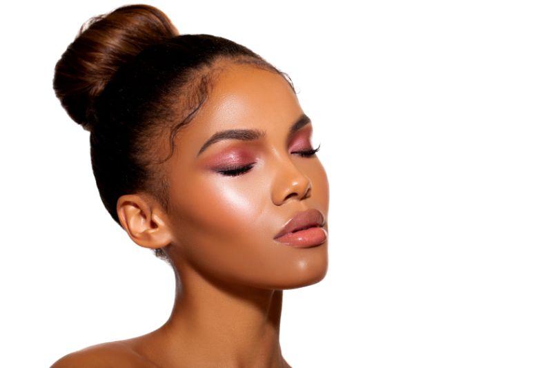 black woman's face